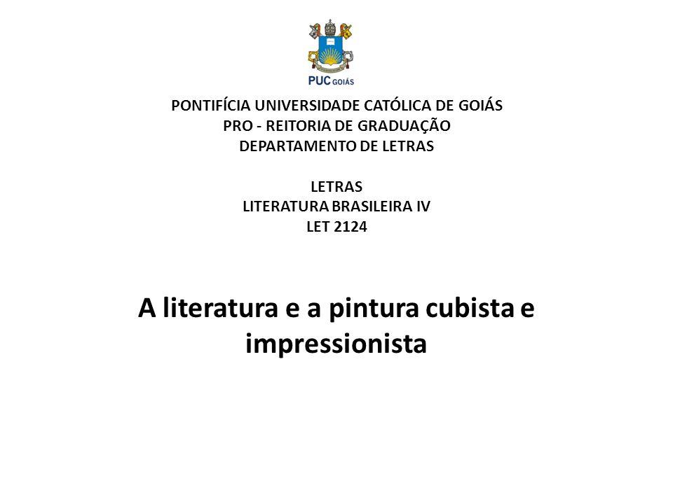 A literatura e a pintura cubista e impressionista