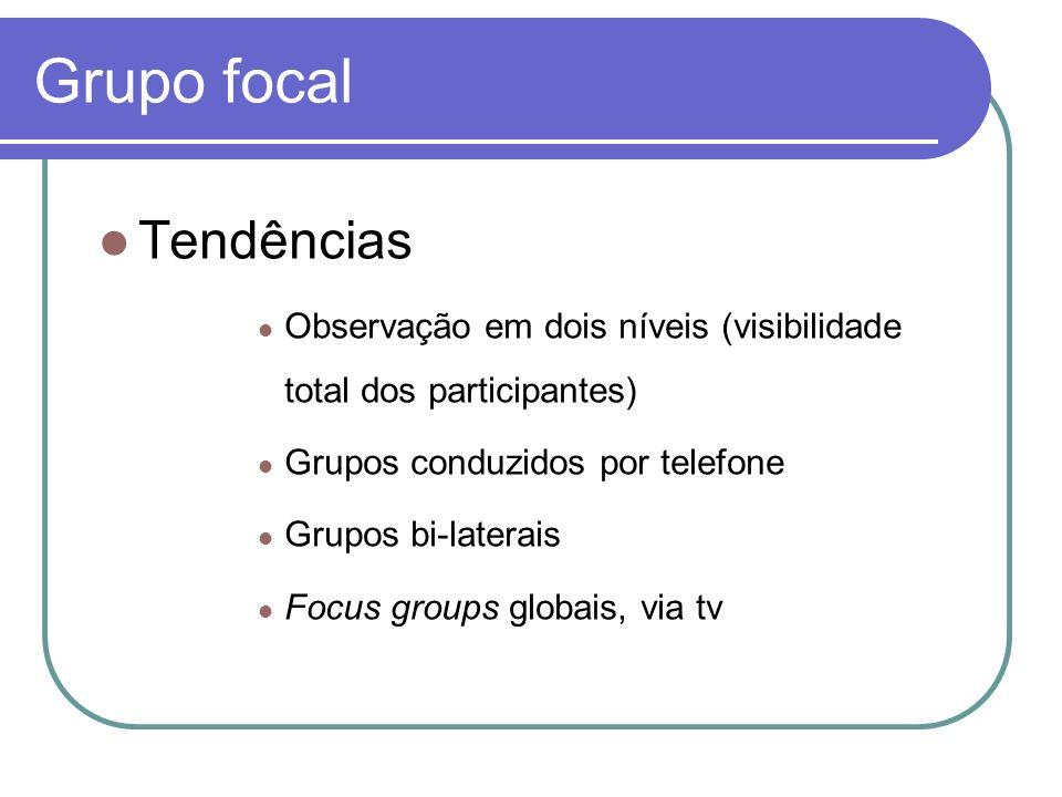 Grupo focal Tendências