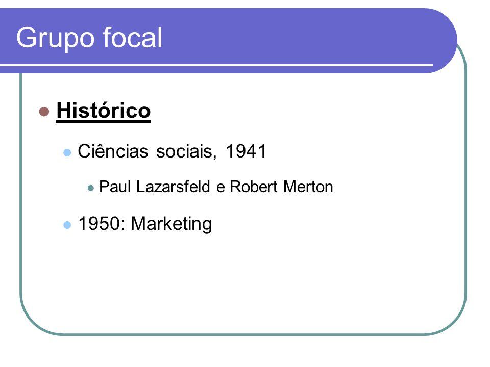 Grupo focal Histórico Ciências sociais, 1941 1950: Marketing