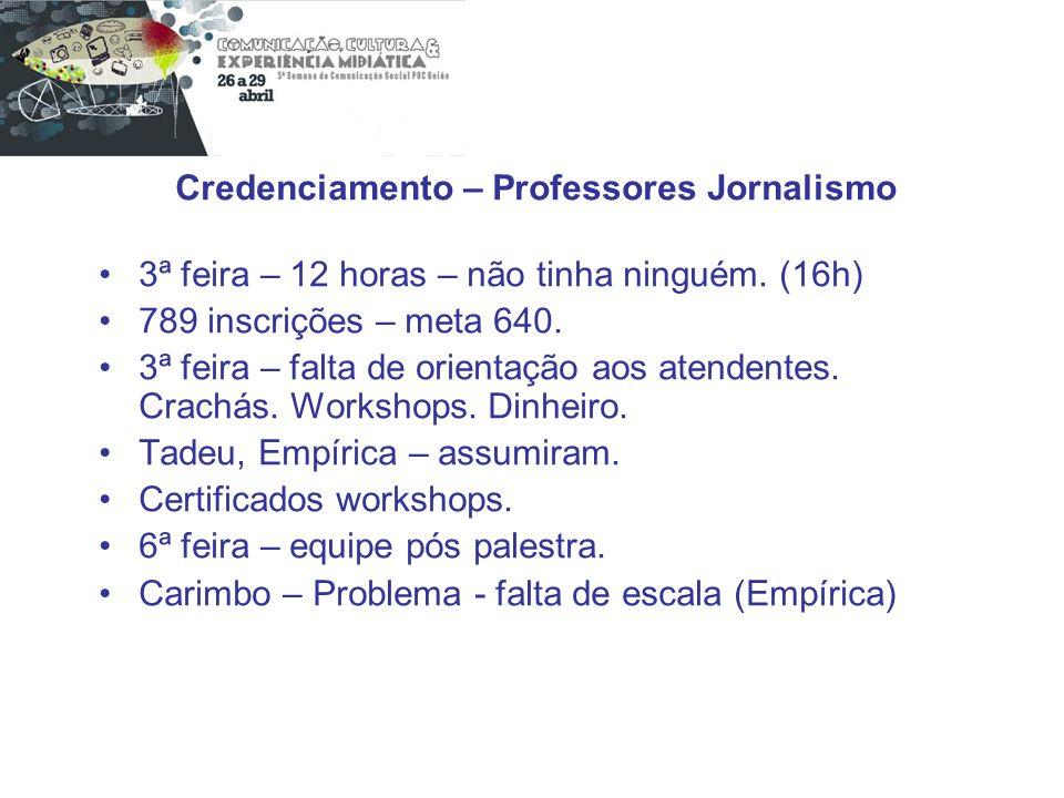 Credenciamento – Professores Jornalismo