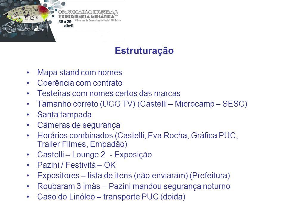 Estruturação Mapa stand com nomes Coerência com contrato