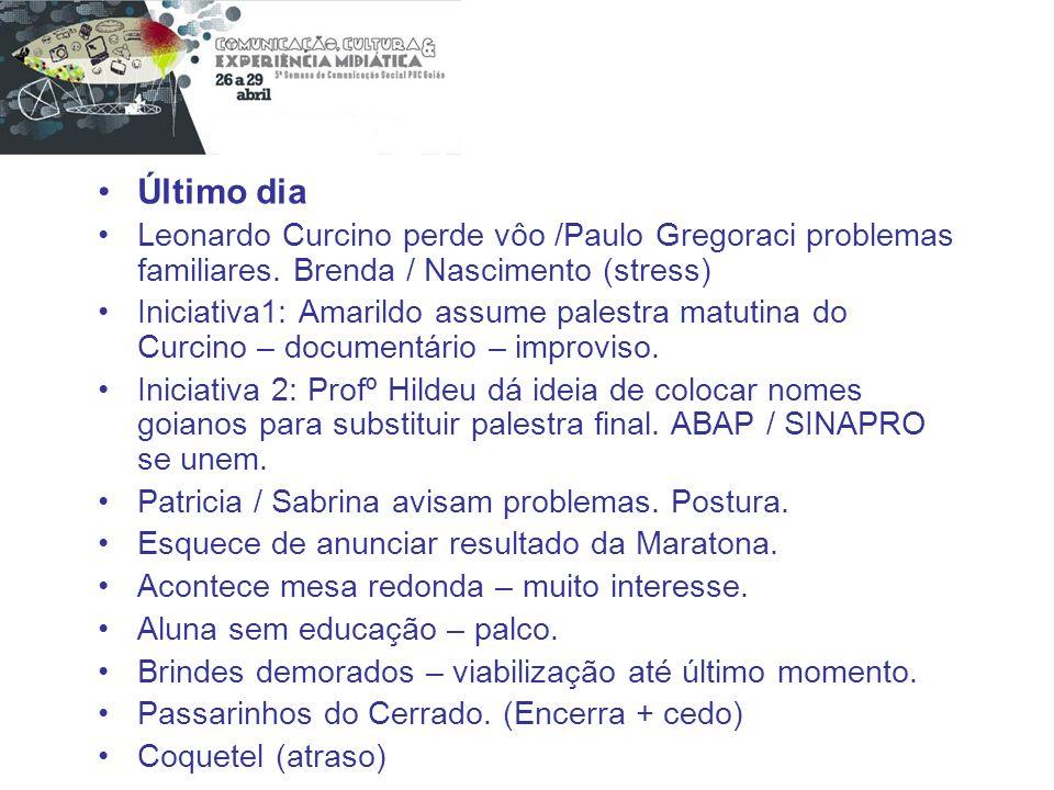 Último dia Leonardo Curcino perde vôo /Paulo Gregoraci problemas familiares. Brenda / Nascimento (stress)