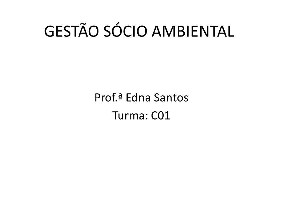 GESTÃO SÓCIO AMBIENTAL