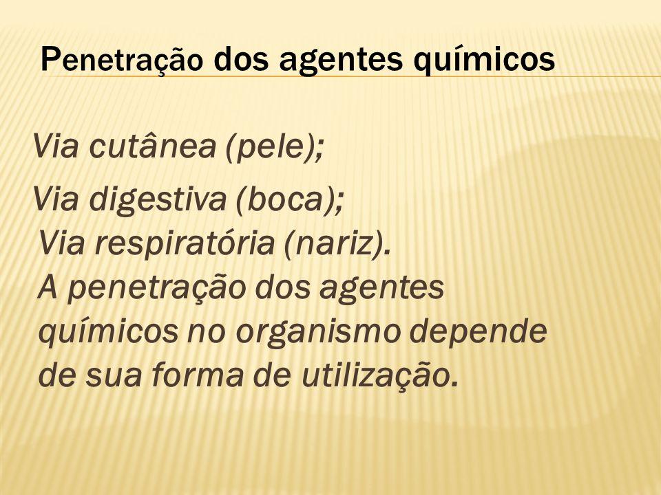 Penetração dos agentes químicos