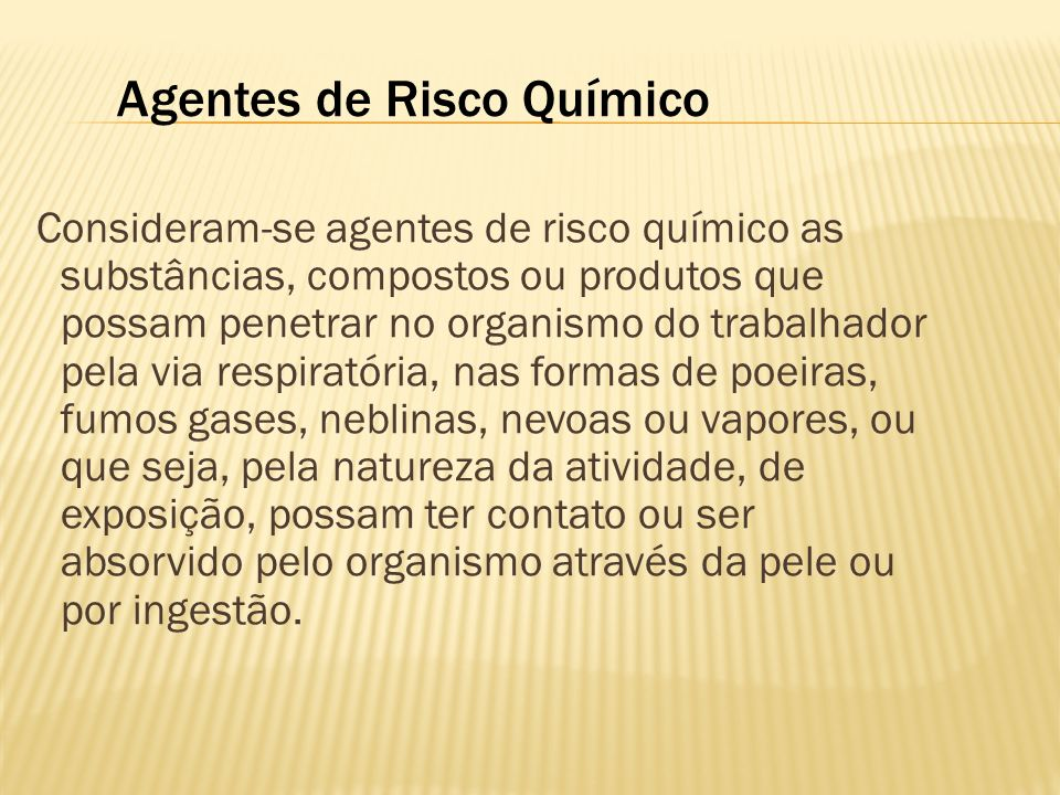 Agentes de Risco Químico