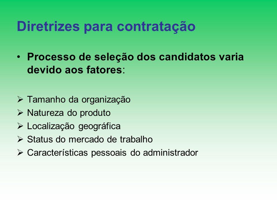 Diretrizes para contratação