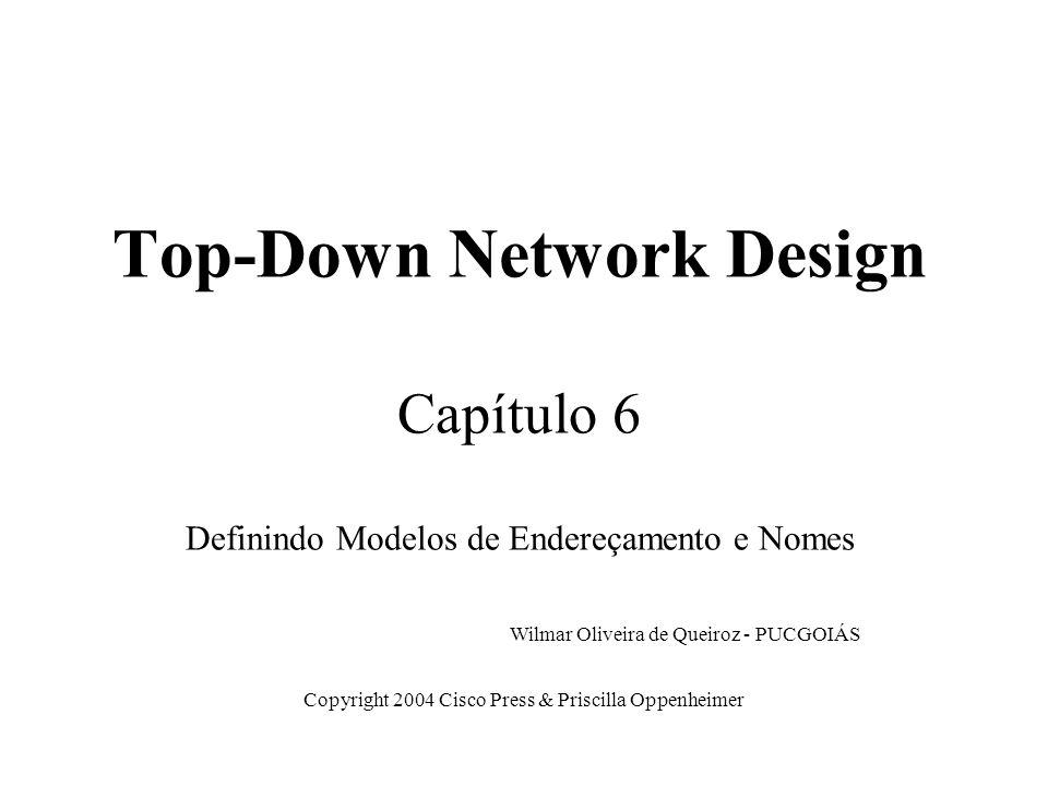 Top-Down Network Design Capítulo 6 Definindo Modelos de Endereçamento e Nomes