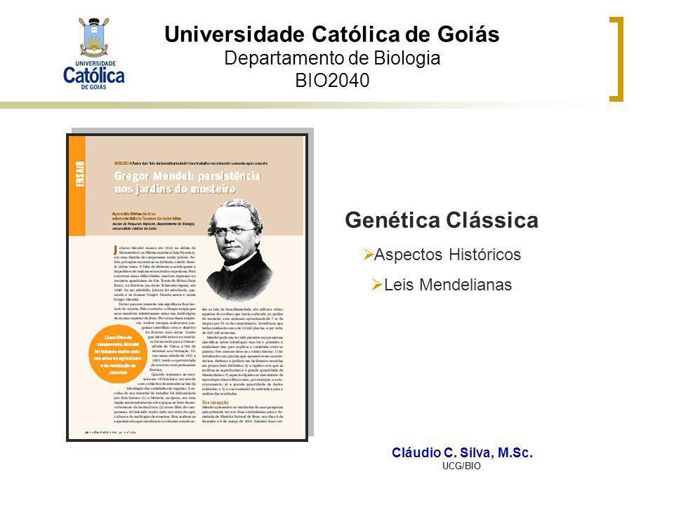 Universidade Católica de Goiás Departamento de Biologia BIO2040