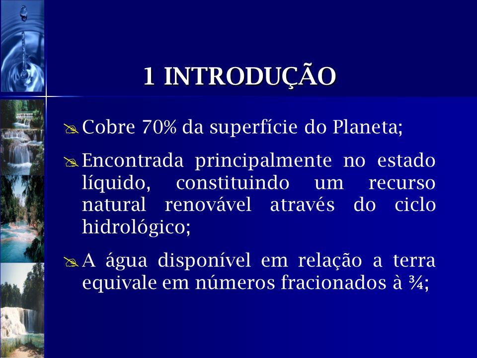 1 INTRODUÇÃO Cobre 70% da superfície do Planeta;