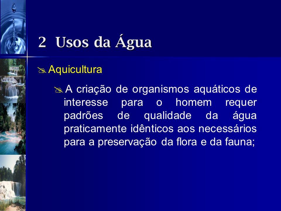 2 Usos da Água Aquicultura