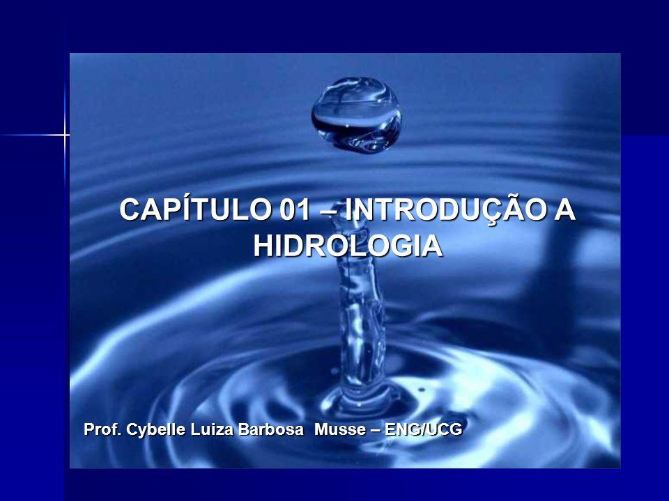 CAPÍTULO 01 – INTRODUÇÃO A HIDROLOGIA