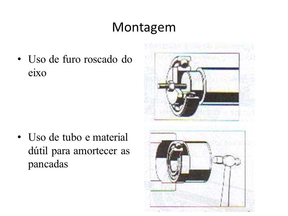 Montagem Uso de furo roscado do eixo