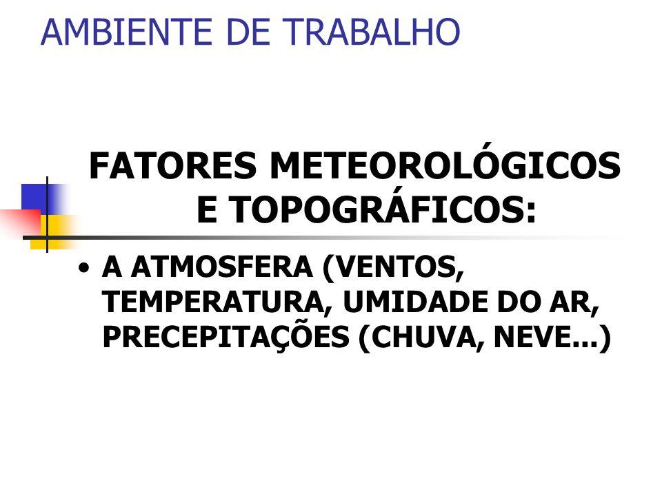 FATORES METEOROLÓGICOS E TOPOGRÁFICOS:
