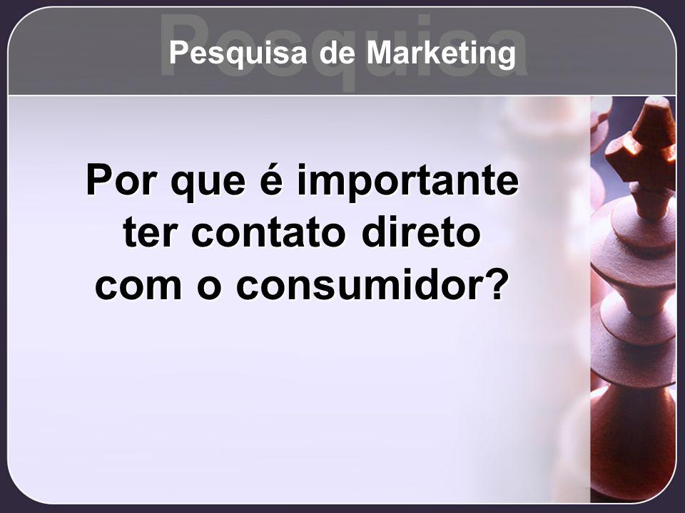 Pesquisa Por que é importante ter contato direto com o consumidor