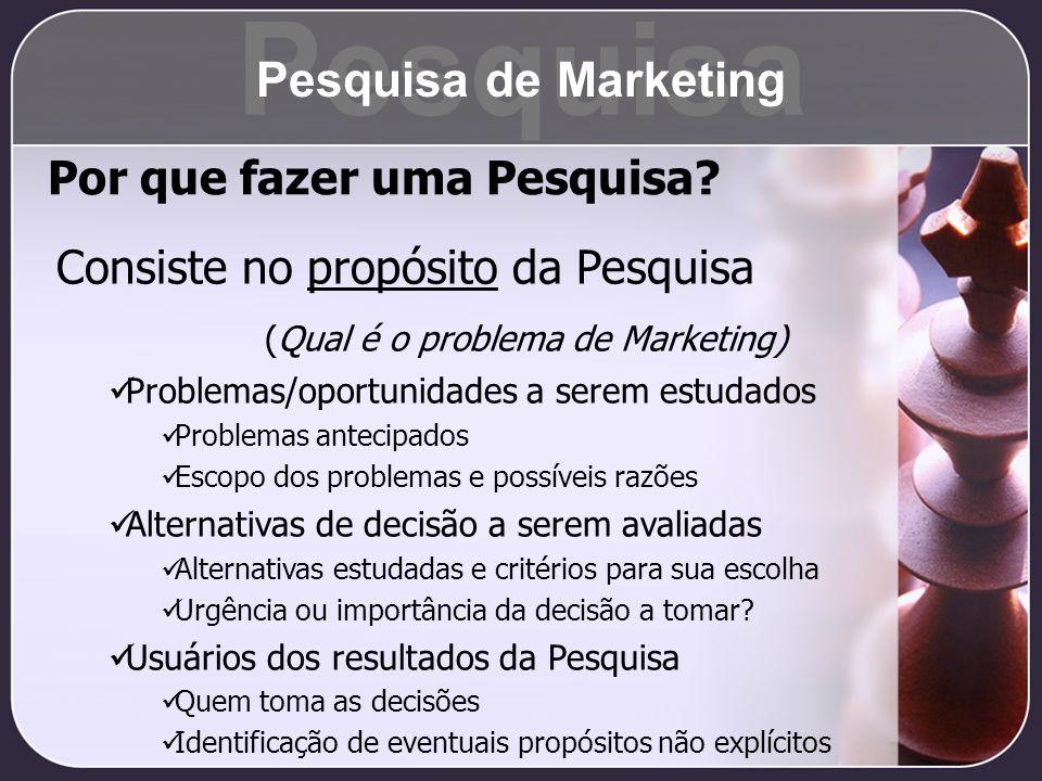 Pesquisa Pesquisa de Marketing Por que fazer uma Pesquisa