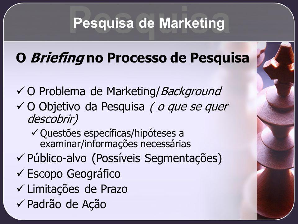 Pesquisa Pesquisa de Marketing O Briefing no Processo de Pesquisa