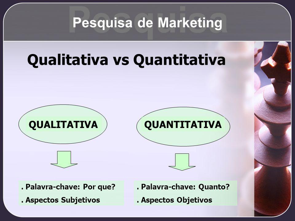 Qualitativa vs Quantitativa