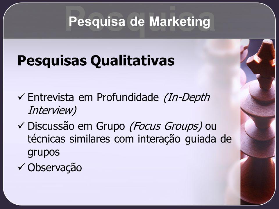 Pesquisa Pesquisas Qualitativas Pesquisa de Marketing