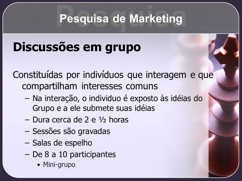 Pesquisa Discussões em grupo Pesquisa de Marketing