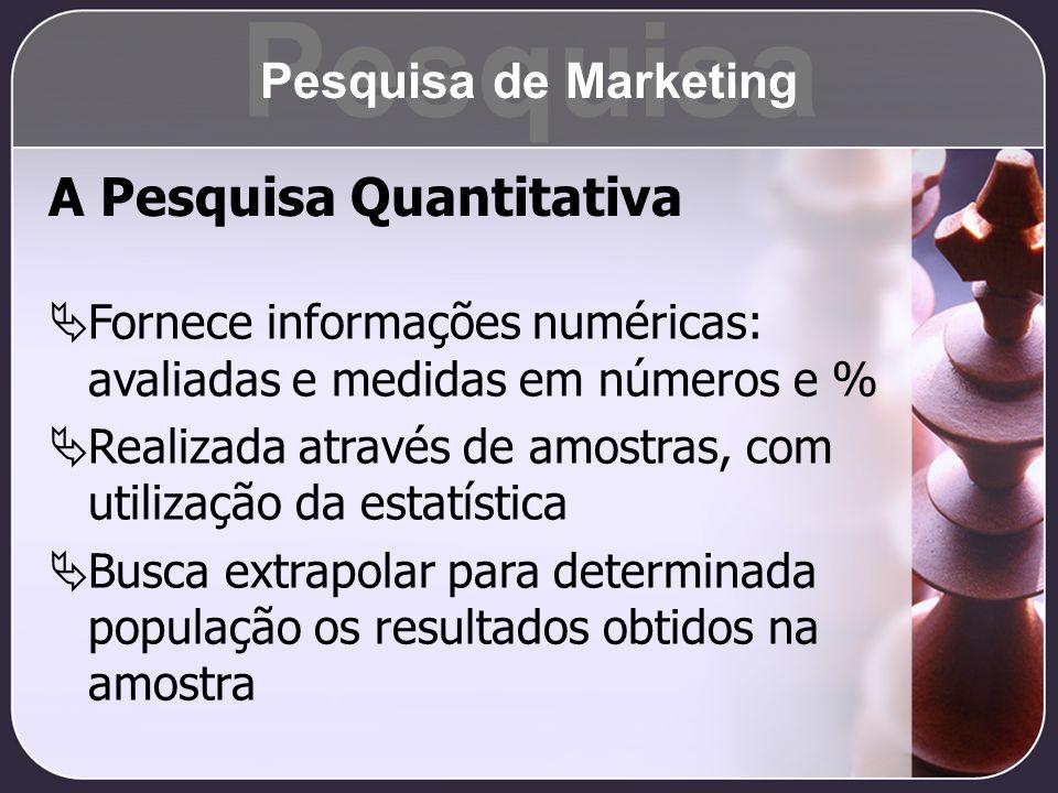 Pesquisa A Pesquisa Quantitativa Pesquisa de Marketing