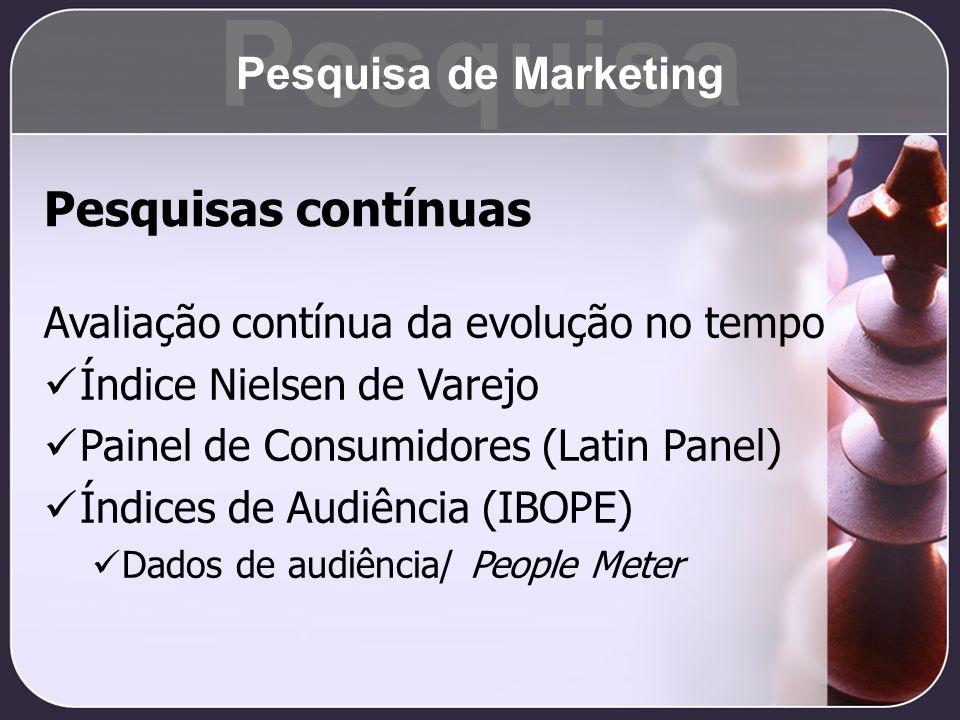 Pesquisa Pesquisas contínuas Pesquisa de Marketing