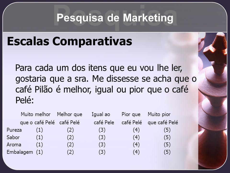 Pesquisa Escalas Comparativas Pesquisa de Marketing
