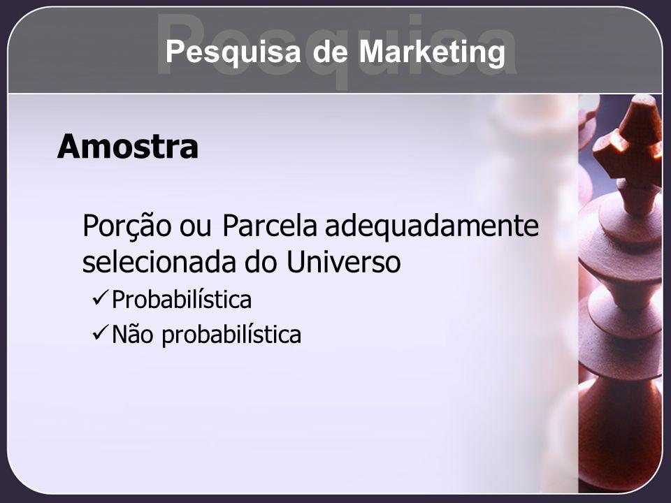 Pesquisa Amostra Pesquisa de Marketing