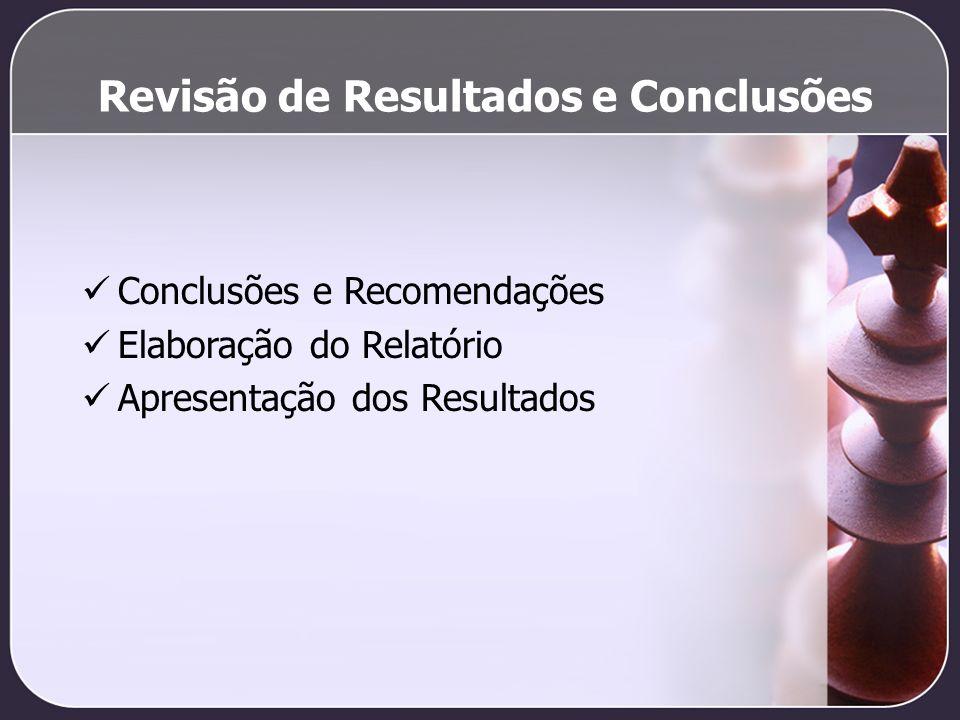 Revisão de Resultados e Conclusões