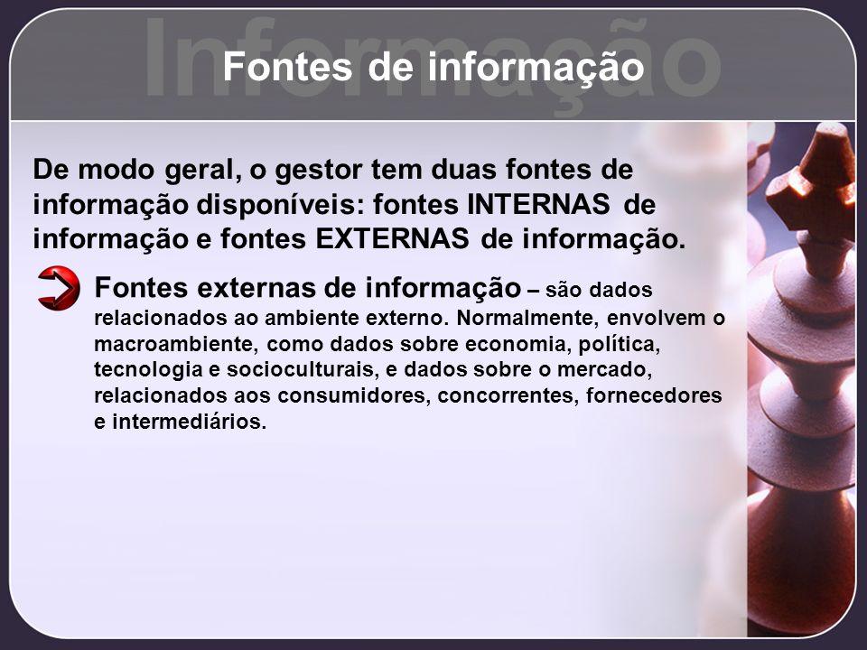 Informação Fontes de informação