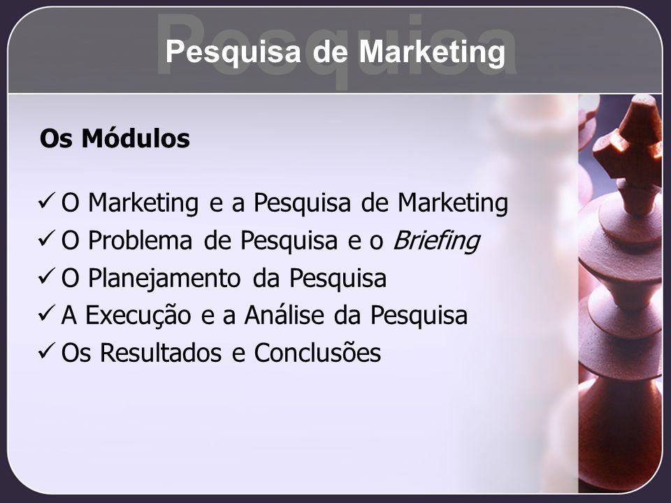 Pesquisa Pesquisa de Marketing Os Módulos