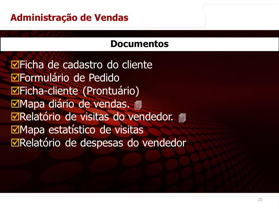Ficha de cadastro do cliente Formulário de Pedido