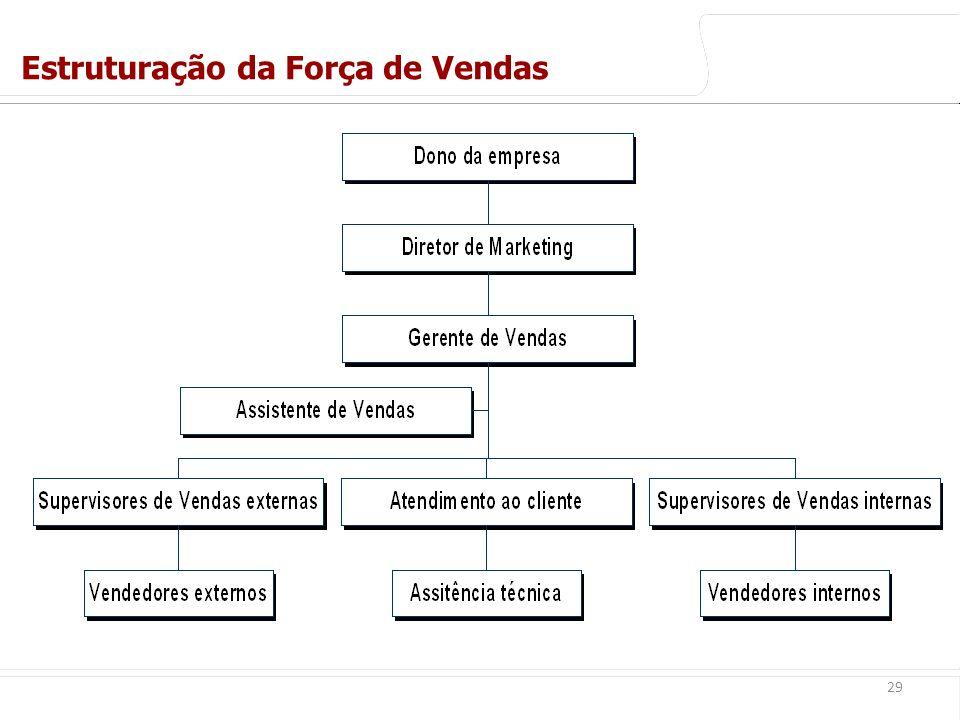 Estruturação da Força de Vendas
