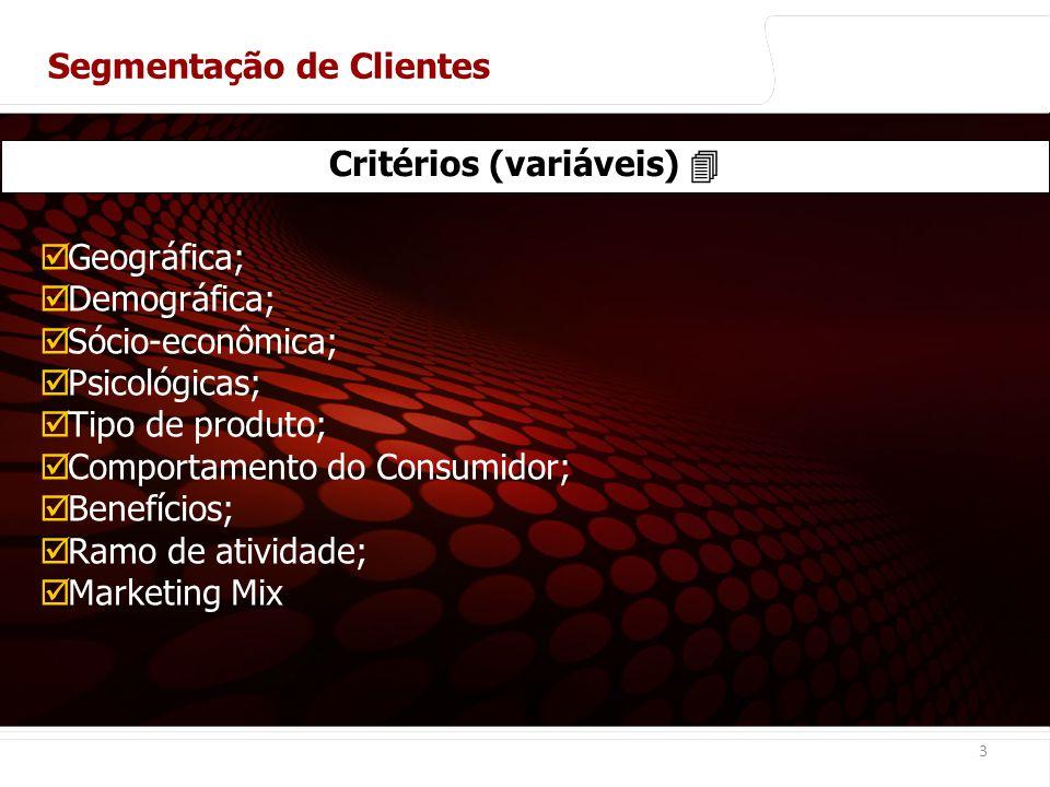 Critérios (variáveis) 