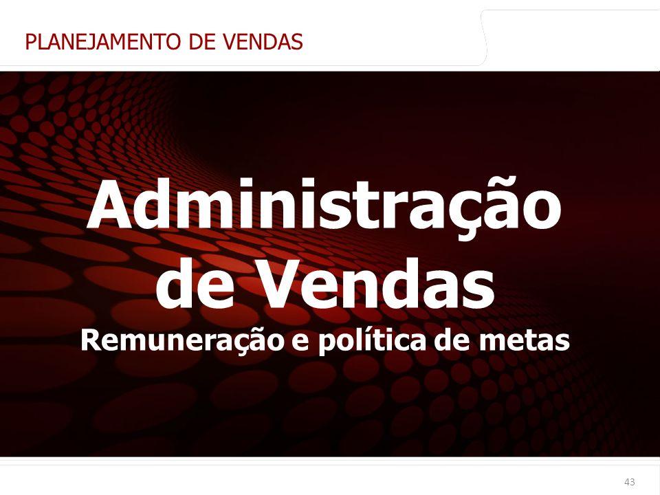 Administração de Vendas Remuneração e política de metas