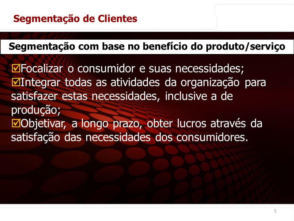 Segmentação com base no benefício do produto/serviço