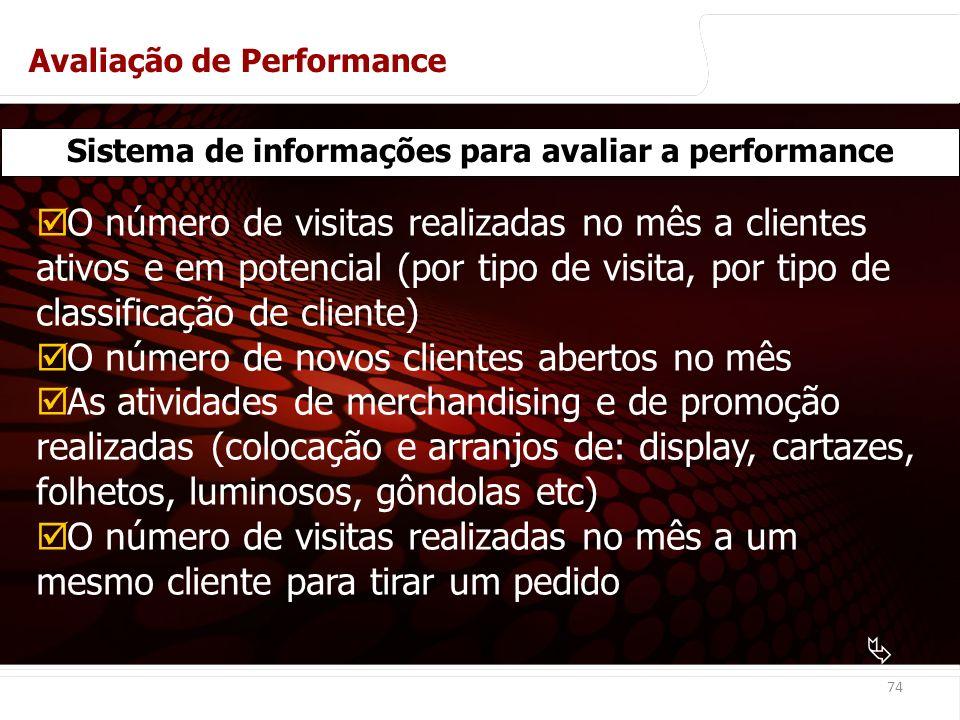 Sistema de informações para avaliar a performance