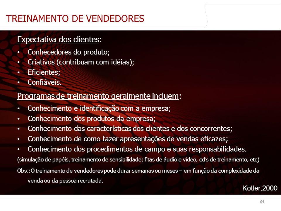 TREINAMENTO DE VENDEDORES