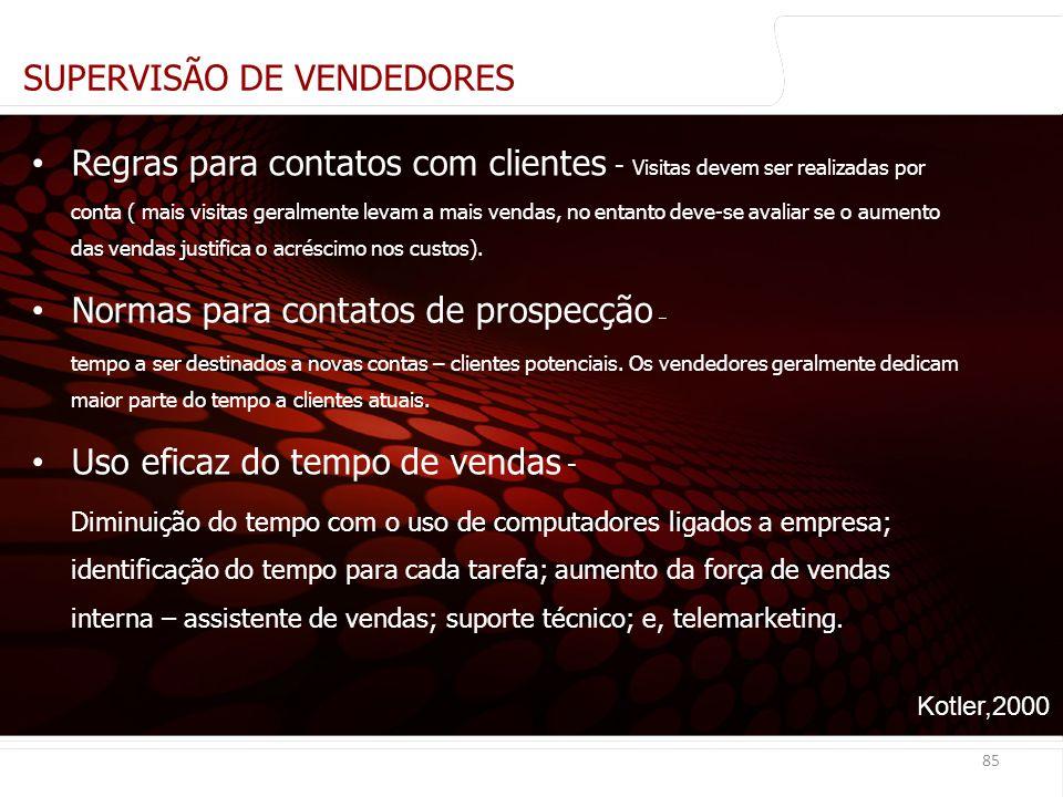SUPERVISÃO DE VENDEDORES