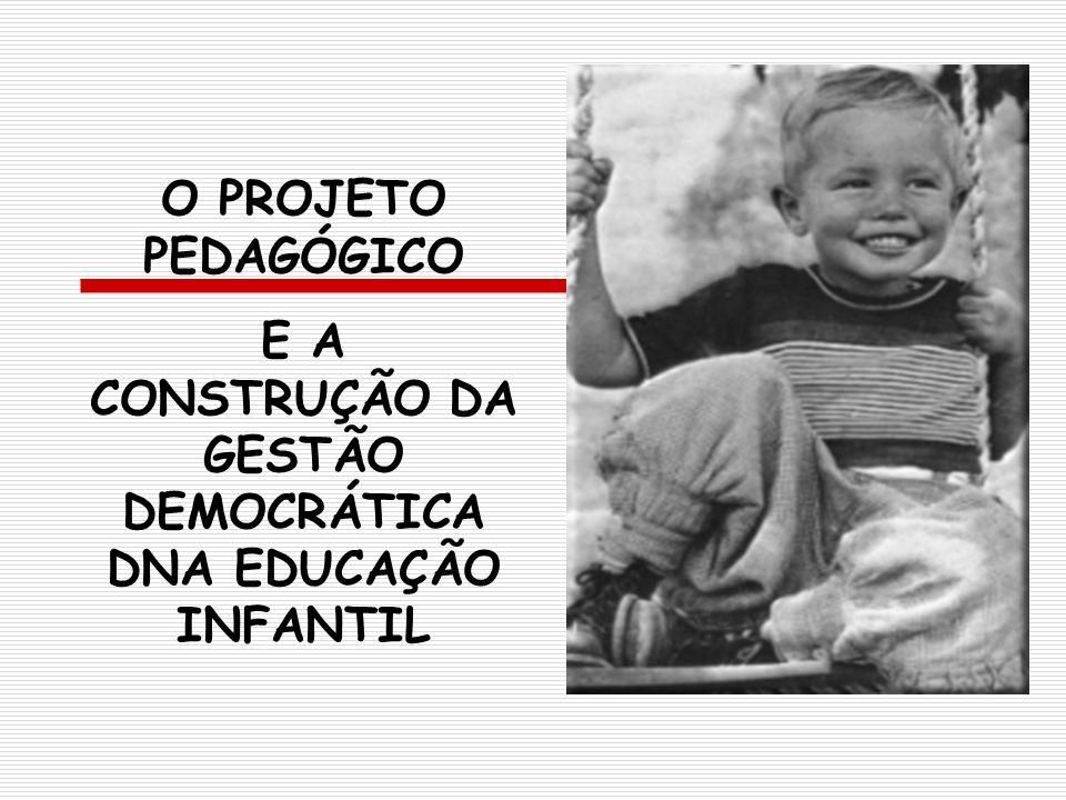E A CONSTRUÇÃO DA GESTÃO DEMOCRÁTICA DNA EDUCAÇÃO INFANTIL
