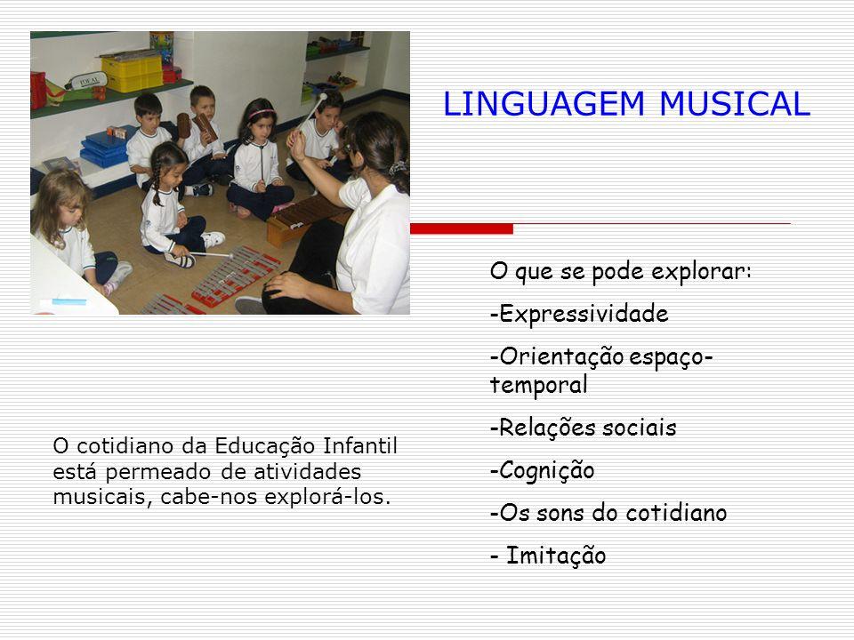 LINGUAGEM MUSICAL O que se pode explorar: Expressividade