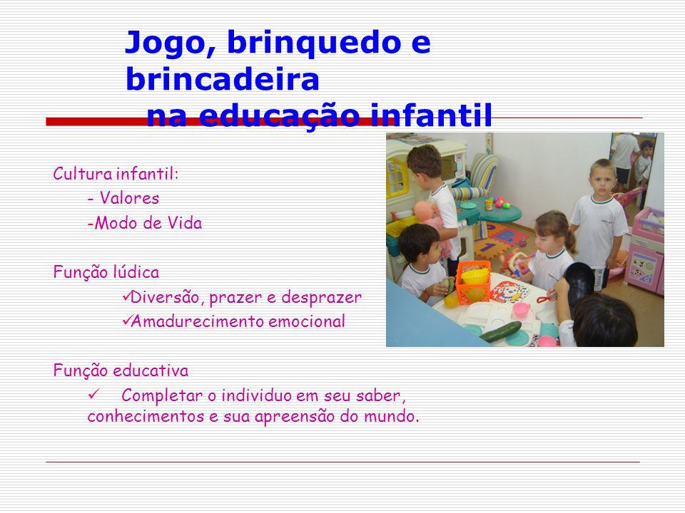 Jogo, brinquedo e brincadeira na educação infantil