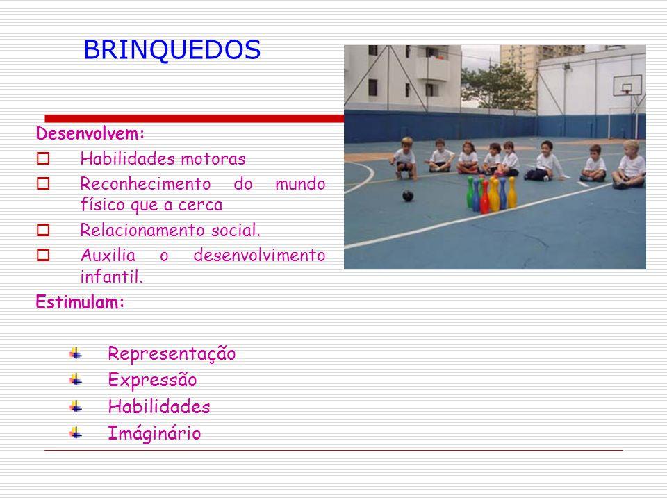 BRINQUEDOS Representação Expressão Habilidades Imáginário Desenvolvem: