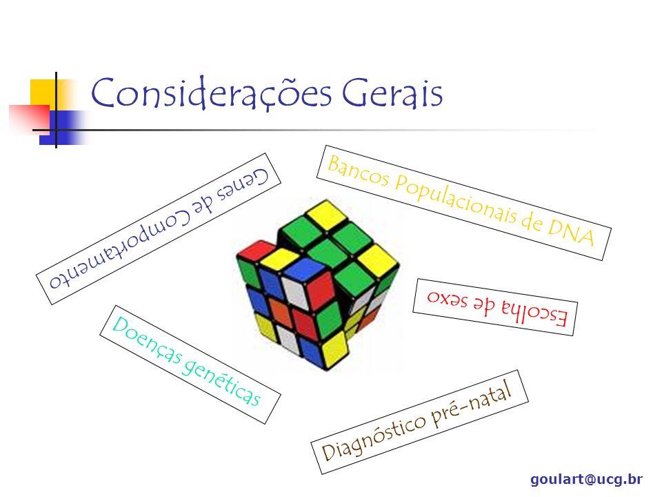 Considerações Gerais Bancos Populacionais de DNA