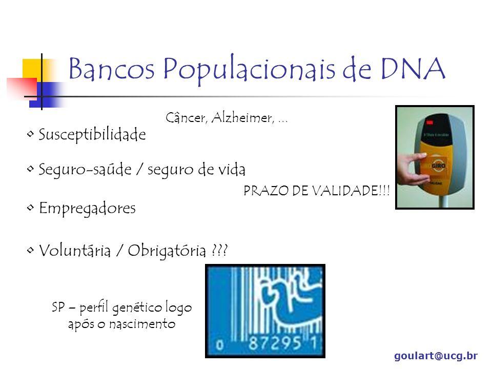 Bancos Populacionais de DNA