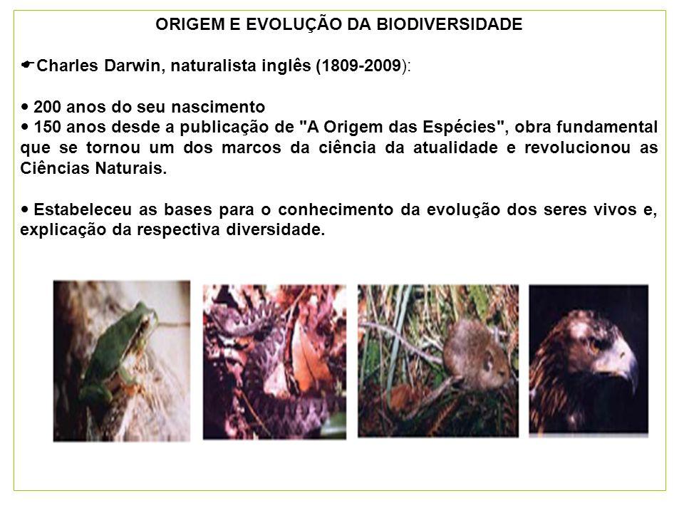 ORIGEM E EVOLUÇÃO DA BIODIVERSIDADE