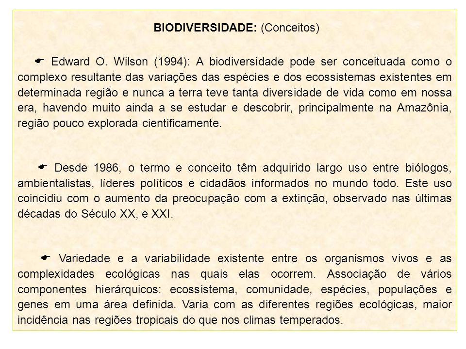 BIODIVERSIDADE: (Conceitos)