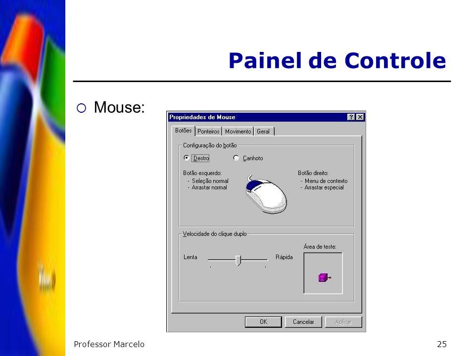 Painel de Controle Mouse: Professor Marcelo