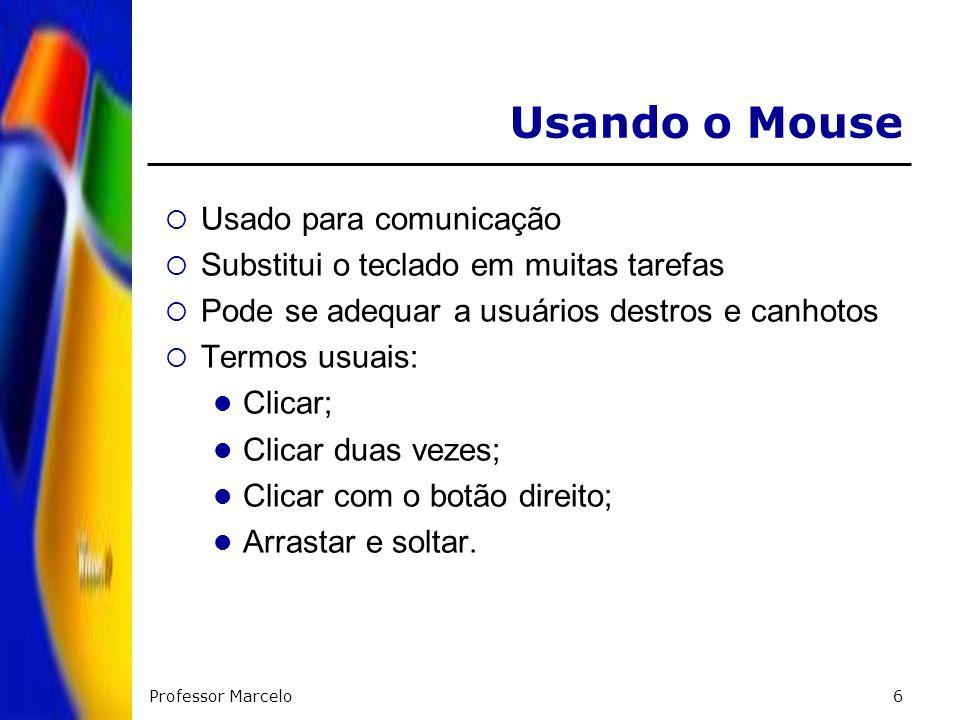 Usando o Mouse Usado para comunicação