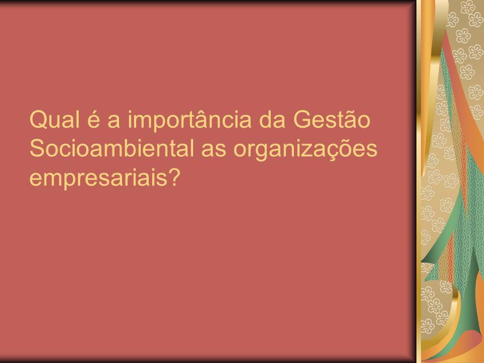 Qual é a importância da Gestão Socioambiental as organizações empresariais