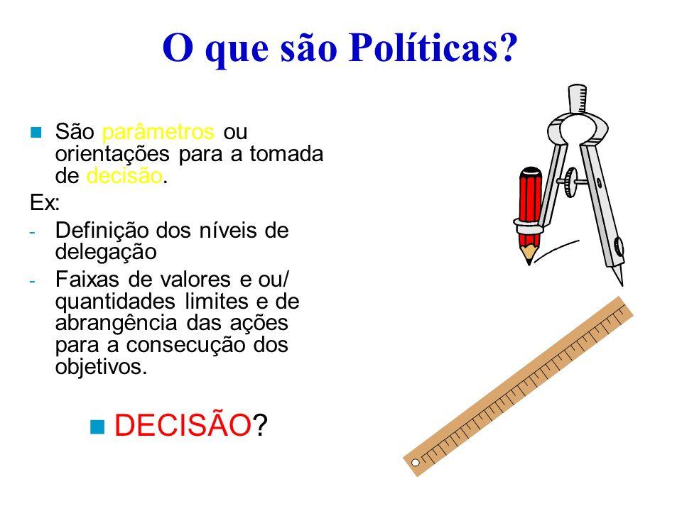 O que são Políticas DECISÃO